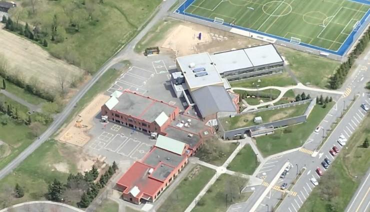 L'école vue du ciel!